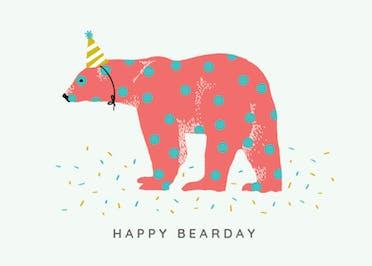 Happy Bearday - Happy Birthday Card