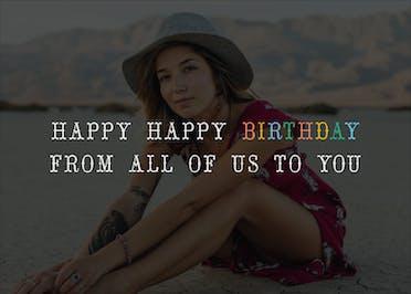 Happy Happy Birthday - Birthday Card