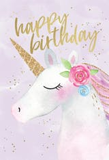 Happy Unicorn - Happy Birthday Card