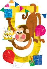 High 5 - Happy Birthday Card