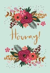 Hooray! - Happy Birthday Card