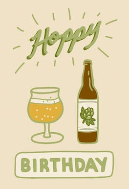 Hoppy birthday - Birthday Card