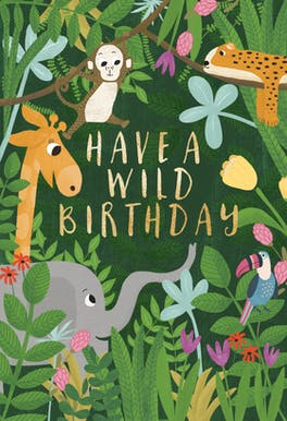 Jungle Jam - Happy Birthday Card