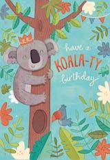 Koala-ty Birthday - Happy Birthday Card