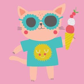 Kool Cat - Happy Birthday Card