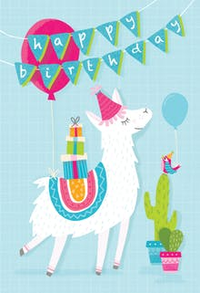 Llama Drama - Happy Birthday Card