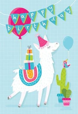 Llama Drama - Happy Birthday Card