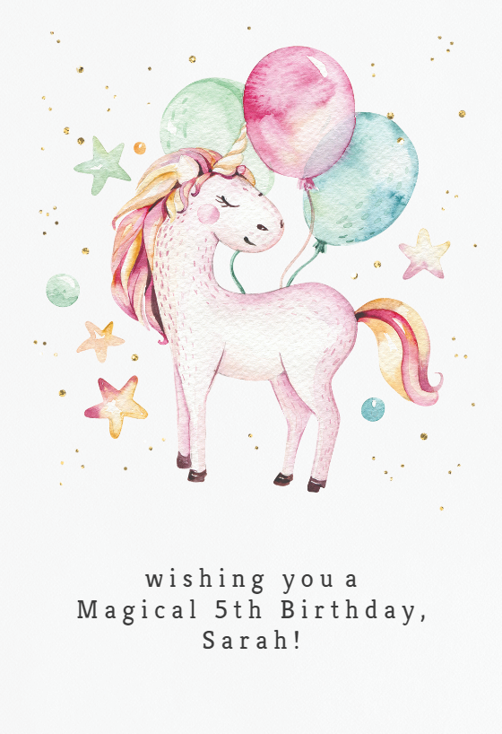 image about Unicorn Birthday Card Printable identify Birthday Playing cards For Youngsters (Totally free) Greetings Island