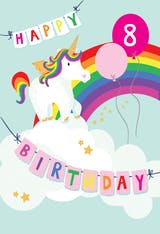 Merry Unicorn - Happy Birthday Card