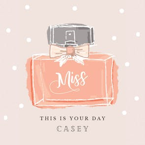 Miss - Printable Birthday Card