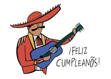 Muchos Años - Happy Birthday Card