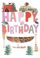 Nature wisdom - Happy Birthday Card