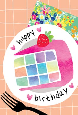 Party Plating - Printable Birthday Card