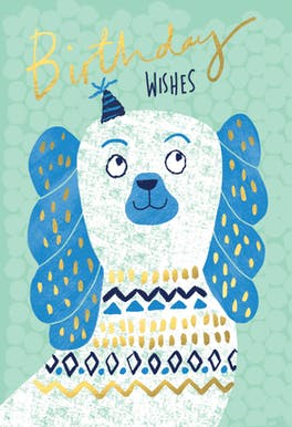 Perky Pup - Happy Birthday Card