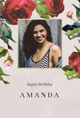 Photo Roses - Birthday Card