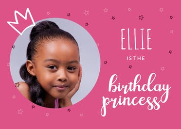 Photogenic Princess - Happy Birthday Card