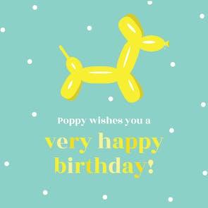 Pop Art - Birthday Card