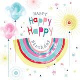 Rainbow & sparkles - Happy Birthday Card