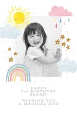 Rainbow Magic - Happy Birthday Card