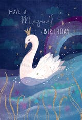 Royal Swan - Happy Birthday Card