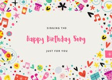 Singing Solo - Birthday Card