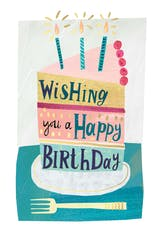 Slice of cake please - Happy Birthday Card
