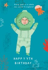 Solo Dive - Happy Birthday Card