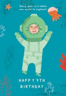Solo Dive - Birthday Card