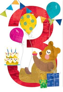 Third Triply Tremendous - Birthday Card