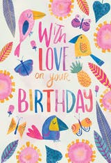 Tropical Take - Happy Birthday Card