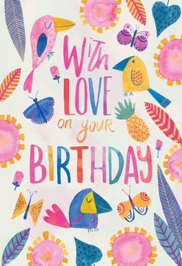Tropical Take - Birthday Card