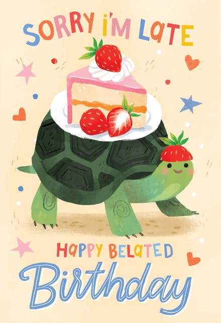 Belated Birthday Cards Free Greetings Island