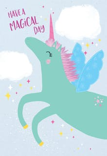 Unicorn day - Birthday Card