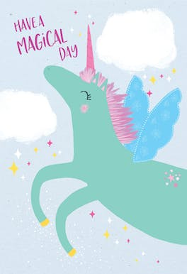 Unicorn day - Happy Birthday Card
