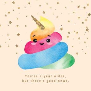 Unicorn Wisdom - Birthday Card