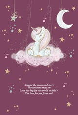 Unicorn Wishes - Happy Birthday Card