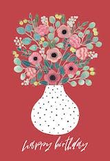 Vase - Happy Birthday Card