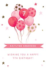 Watercolor Balloons - Happy Birthday Card