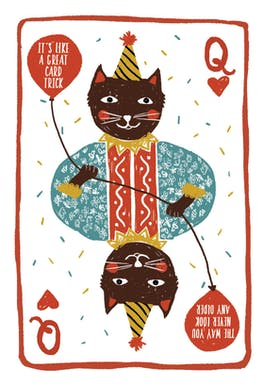 Winning Hand - Birthday Card