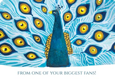 Your biggest fan - Birthday Card