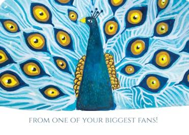 Your biggest fan - Happy Birthday Card