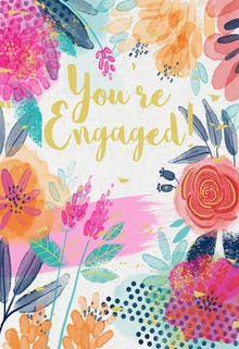 Floral Forward - Engagement Congratulations Card