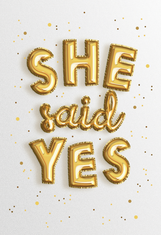 Excellent She Said Yes Engagement Congratulations Card Free Personalised Birthday Cards Cominlily Jamesorg