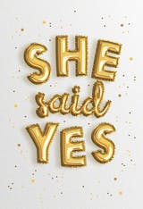 She said yes - Engagement Congratulations Card