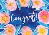 Botanical - Congratulations Card