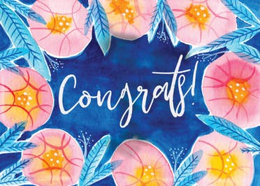 Botanical - Congratulations Card