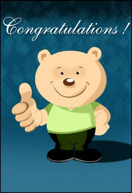 Congratulations - Printable Congratulations Card