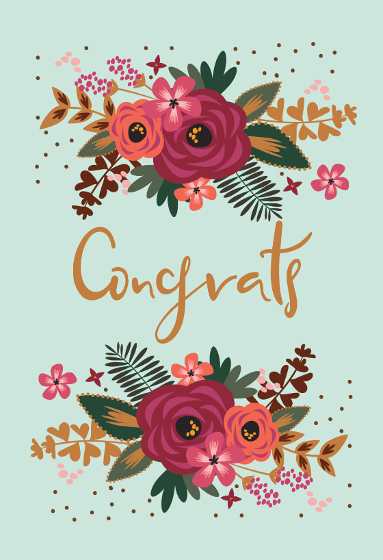 picture relating to Free Printable Congratulations Cards identified as Congratulations Playing cards (Free of charge) Greetings Island