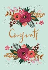 Floral Congrats - Congratulations Card