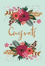 Floral Congrats - Tarjeta De Felicitación